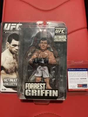 UFC Signed Forrest Griffin Action Figure PSA DNA Certificate of Authenticity for Sale in Hacienda Heights, CA