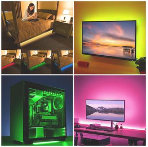 🚨TV BACKLIGHT LED STRIP KIT! USB POWERED. REMOTE CONTROL COLOR CHANGE. COMPUTER/ MIRRORS/ UNDER BED/ CLOSET LIGHT (2M/6FT)🚨 for Sale in Ontario, CA