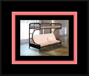 Twin futon bunkbed frame for Sale in College Park, MD