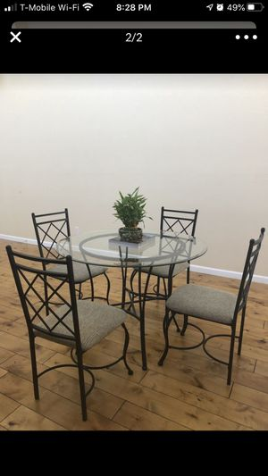 Glass Top Dining Table Set for Sale in Oakland, CA