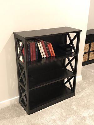 Wood bookshelf-ebony for Sale in Arlington, VA