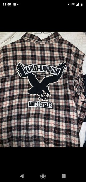 Vintage Harley Davidson sleeveless flannel motorcycle 2XL for Sale in Anaheim, CA