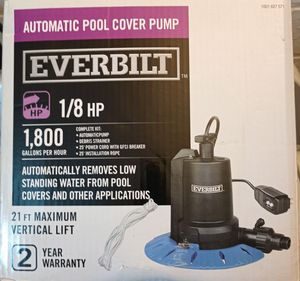 Automatic Pool Cover Pump 1/8 HP Everbilt for Sale in Brooklyn, OH