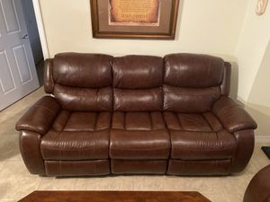 Leather Recliner Sofas NEW - EL Dorado Cindy Crawford leather powered & manual recliner sofa set of 2 for Sale in Deerfield Beach, FL
