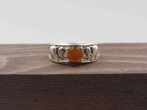 Size 5.25 Sterling Silver Elephant Amber & CZ Diamond Band Ring Vintage Statement Engagement Wedding Promise Anniversary Cocktail Friendship for Sale in Everett, WA
