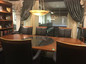 Camilo Professional Office Furniture - Conference table of wood and granite for Sale in Coral Gables, FL