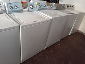 Top load washers in excellent conditions with 4 months warranty from $130 & up for Sale in Baltimore, MD