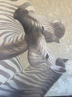 Large Zebra Art Canvas Picture for Sale in Alpharetta,  GA