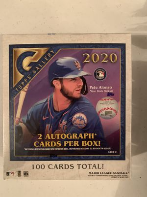 2020 Topps Gallery Baseball SEALED Hobby Box 2 AUTOGRAPHS 100 Cards Total for Sale in Las Vegas, NV
