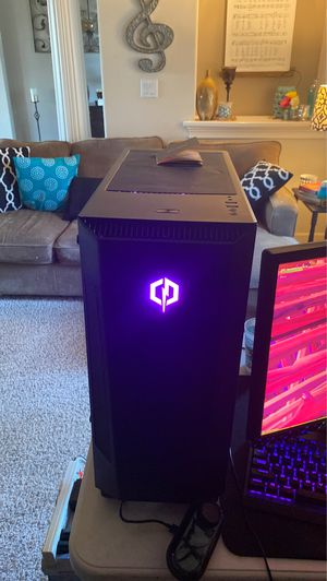 CYBERPOWER gaming pc SPECS: ryzen 3 quad core cpu Radeon rx 580 4gb graphics card 1 Tb of storage 8 gb of ram and two rgb fans selectable colors and for Sale in Shasta, CA