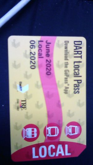 Dart June Monthly Bus Pass 2020 for Sale in Dallas, TX