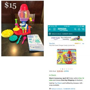 Play Dough Candy Cyclone for Sale in Sunbury, OH