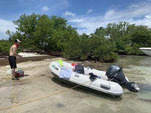 Inflatable boat and 15hp Yamaha 4stroke outboard plus extras! for Sale in Miami, FL
