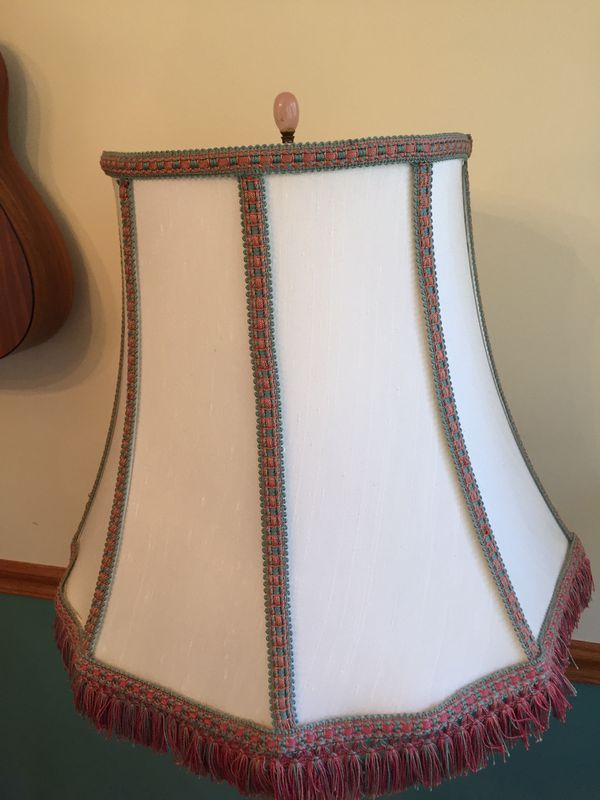 Standing lamp, antique marble
