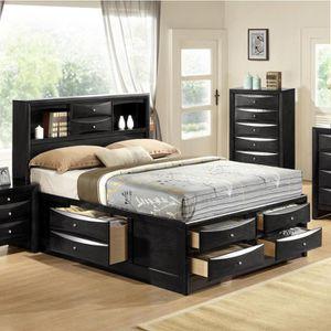🌈Emily Black Queen Storage Platform Bed (SameDay Delivery) 🌈 for Sale in Glen Burnie, MD