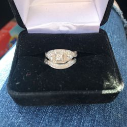 Princess Cut Diamond Engagement Ring And Band for Sale in San Diego,  CA