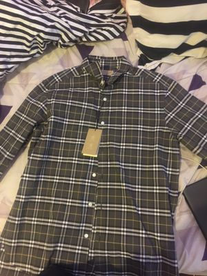 Long sleeve burberry men's Baby shower shirt lol for Sale in Philadelphia, PA