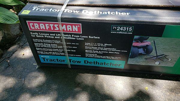 Craftsman Tractor Tow Dethatcher