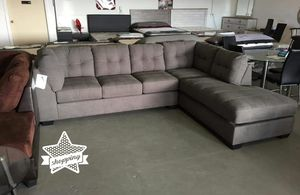 Gray Oversized Sectional Sofa ♦️ $39 down payment for Sale in Houston, TX