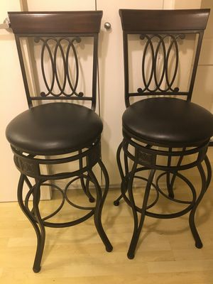 For Sale - Cherry Wood Bar Stool Set for Sale in Los Angeles, CA