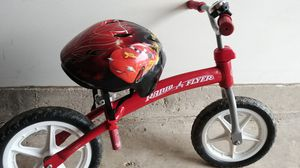 Radio Flyer balance bike and helmet for Sale in North Springfield, VA