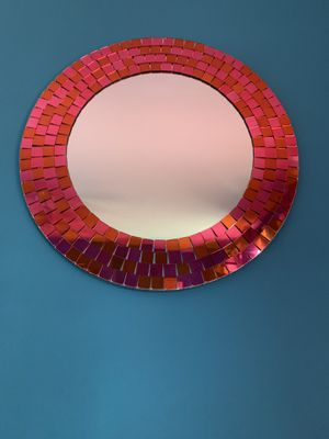 Pink and orange mirror for Sale in Baltimore, MD