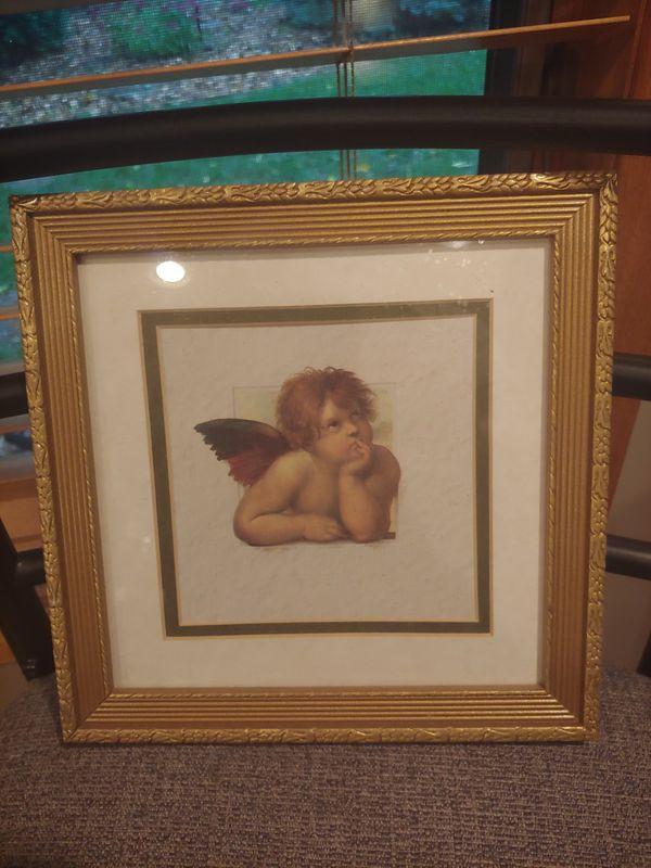 Three Angel Cherub Frames Art