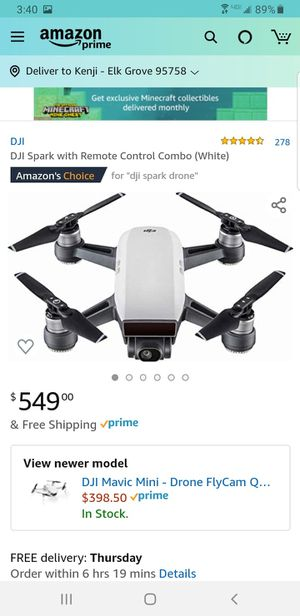 DJI Spark with Remote Combo for Sale in Elk Grove, CA
