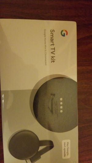 New Sealed Google Smart TV Kit Google home mini &chromecast for Sale in Miami, FL