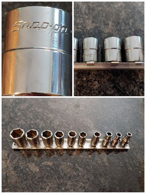 """Snap-on tools 1/4"""" sae shallow socket set for Sale in Romeoville, IL"""