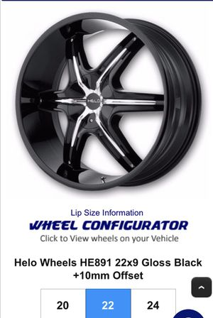 "22"" Helo HE891 rims for Sale in York, PA"