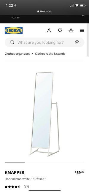 IKEA floor mirror, white for Sale in Boynton Beach, FL