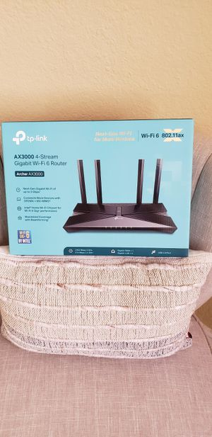 TP-Link Archer AX3000 Dual-Band Wi-Fi 6 Wireless Router for Sale in Pembroke Pines, FL