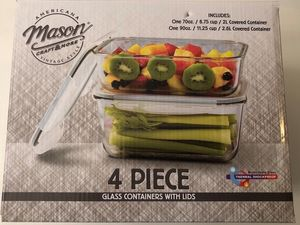 Mason glass containers with lids(new) for Sale in Philadelphia, PA