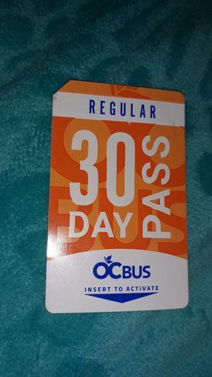 Bus Pass for Sale in Orange, CA