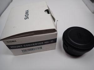 Sigma MC-11 lens converter - convert canon lenses for Sony for Sale in Miami Beach, FL