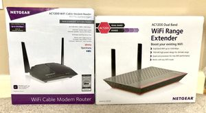 Netgear AC1200 WiFi Cable Modem Router + WiFi Range Extender for Sale in Portland, OR