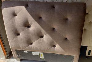 NEW Twin Tuffed Fabric Bed Headboard + Side Rails + Footboard for Sale in Orlando, FL