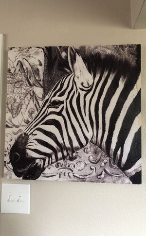 Zebra printed painting for Sale in Houston, TX