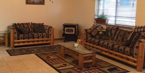 Couch and love seat set and matching coffee table and end tables. for Sale in Young, AZ