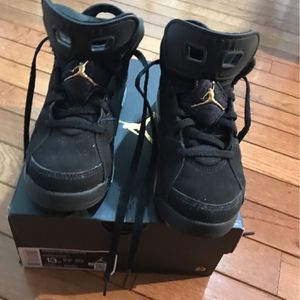 Jordan DMP6's Black/Gold Kids 13 for Sale in Bowie, MD