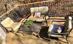4 PC. Outdoor furniture set (1 table, 1 loveseat, 2 chairs) for Sale in New Market, MD