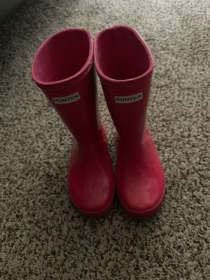 Kids hunter rain boots hot pink for Sale in Canton, MI