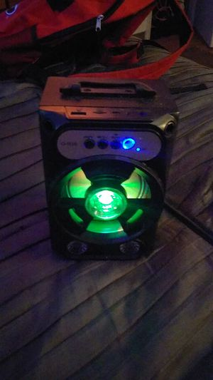 Great Bluetooth speaker with flashing lights and obviously charger included. First come first serve price won't be beat for Sale in Lawrenceville, GA