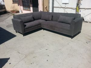 NEW 7X9FT ANNAPOLIS GRANITE FABRIC SECTIONAL COUCHES for Sale in Las Vegas, NV