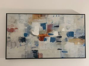 42 x 24 in wall art with wooden frame for Sale in Miami, FL