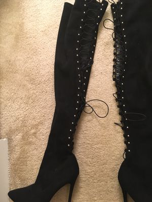 Black boots size 10 for Sale in Arlington, VA