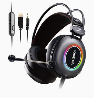 E3 Black Gaming Headset, Over-Ear Stereo Gaming Headphones with Uni-Directional Microphone for PC, Computer, Laptop, PS4, Xbox One, Nintendo Switch for Sale in Arlington Heights, IL