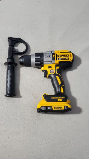 Dewalt 20V Max XR Brushless 1/2in Hammer Drill Driver. Model dcd996. With new 2ah battery. Price firm for Sale in Plainfield, IN