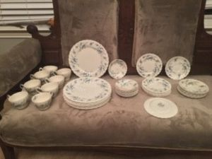 Antique Myott Forget Me Not 40 Piece set of china for Sale in Leander, TX